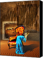 Camel Digital Art Canvas Prints - Dreaming Chair Canvas Print by Svetlana Sewell