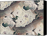 Susan Leggett Digital Art Canvas Prints - Dreaming of Roses Canvas Print by Susan Leggett