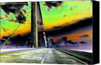 Florida Bridge Canvas Prints - Dreaming over the Skyway Canvas Print by David Lee Thompson
