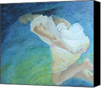 Transform Painting Canvas Prints - Dreaming Canvas Print by Roncea Eliza
