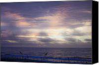 Daybreak Canvas Prints - Dreamy Blue Atlantic Sunrise Canvas Print by Teresa Mucha