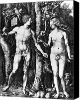 Fig Bird Canvas Prints - DÜrer: Adam & Eve, 1504 Canvas Print by Granger