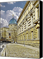 University Canvas Prints - Dresden Academy of Fine Arts Canvas Print by Christine Till