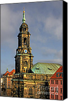 Religions Canvas Prints - Dresden Kreuzkirche - Church of the Holy Cross Canvas Print by Christine Till