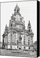 Frauenkirche Canvas Prints - Dresdens Church of our Lady - Reminder of peace Canvas Print by Christine Till