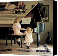 Piano Canvas Prints - Dress Rehearsal Canvas Print by Greg Olsen