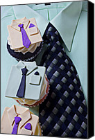 Cupcakes Canvas Prints - Dress Shirt Cupcakes Canvas Print by Garry Gay