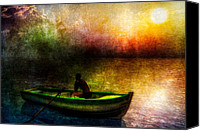 Hope Painting Canvas Prints - Drifting Into The Light Canvas Print by Bob Orsillo