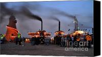 Blandford Canvas Prints - Drifting steam at the Fair Canvas Print by Rob Hawkins