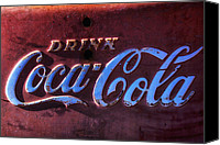 Collectible Canvas Prints - Drink Coca Cola Canvas Print by Garry Gay