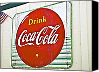 Susan Leggett Canvas Prints - Drink Coca Cola Canvas Print by Susan Leggett
