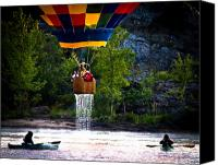 Androscoggin River Canvas Prints - Dripping Wet  Hot Air Balloons Canvas Print by Bob Orsillo