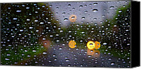 Raining Canvas Prints - Driving Rain Canvas Print by Tim Nichols
