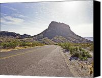 Big Bend Canvas Prints - Driving Throught Big Bend National Park Canvas Print by M K  Miller