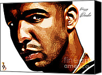 Nicki Minaj Canvas Prints - Drizzy Drake Canvas Print by The DigArtisT