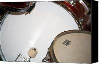 Drum Set Canvas Prints - Drum 4 Canvas Print by Jame Hayes