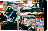 Drum Set Canvas Prints - Drum Set Canvas Print by Susan Stevenson