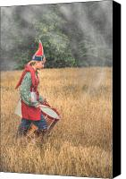 American Revolution Special Promotions - Drummer Boy Eastern Indian Frontier Canvas Print by Randy Steele