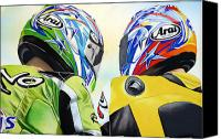 Motogp Canvas Prints - Duality Canvas Print by Ian Hemingway