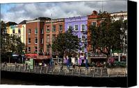 Yellow Building Canvas Prints - Dublin Building Colors Canvas Print by John Rizzuto