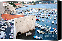 Dubrovnik Canvas Prints - Dubronik Marina Canvas Print by Artur Bogacki