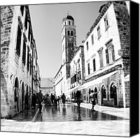 Featured Canvas Prints - #dubrovnik #b&w #edit Canvas Print by Alan Khalfin
