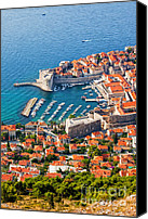 Dubrovnik Canvas Prints - Dubrovnik from Above Canvas Print by Artur Bogacki