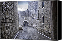 Raining Canvas Prints - Dubrovnik In The Rain - Old City Canvas Print by Madeline Ellis
