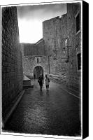 Dubrovnik Canvas Prints - Dubrovnik In The Rain Canvas Print by Madeline Ellis