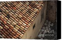 Dubrovnik Canvas Prints - Dubrovnik Rooftop Canvas Print by Bob Christopher