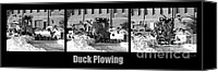 Strange Photo Canvas Prints - Duck Plowing Canvas Print by Bob Orsillo