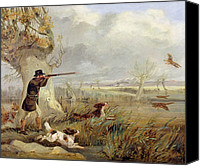 Thomas Canvas Prints - Duck Shooting  Canvas Print by Henry Thomas Alken