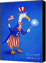 July 4th Canvas Prints - Ducky Doodle Dandy... Canvas Print by Will Bullas