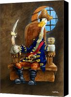 Pirate Canvas Prints - Duke L Orange... Canvas Print by Will Bullas