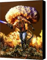 Duke Digital Art Canvas Prints - Duke Nukem Canvas Print by Kurt Miller