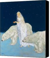 Polar Bear Canvas Prints - Dulac: The Ice Maiden, 1915 Canvas Print by Granger