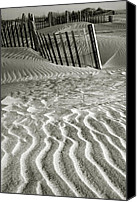 Sand Fences Canvas Prints - Dune Patterns II Canvas Print by Steven Ainsworth