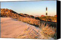 Atlantic Beaches Canvas Prints - Dunes of Fire Island Canvas Print by JC Findley