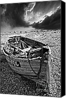Wooden Boat Canvas Prints - Dungeness Decay Canvas Print by Meirion Matthias