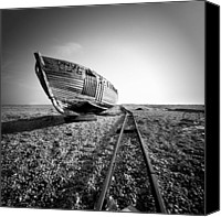 Ship Wreck Canvas Prints - Dungeness Ship Wreck II Canvas Print by Nina Papiorek