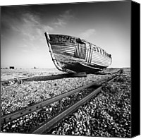 Ship Wreck Canvas Prints - Dungeness Ship Wreck Canvas Print by Nina Papiorek