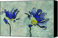 "\\\\\\\""aimelle \\\\\\\\\\\\\\\"" Canvas Prints - Duo Daisies - 02dp3b22 Canvas Print by Variance Collections"