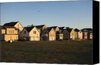 Duplex Canvas Prints - Duplexes Near Grassy Field Canvas Print by Roberto Westbrook