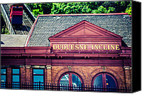 Steel City Canvas Prints - Duquesne Incline of Pittsburgh Canvas Print by Lisa Russo