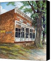 Egg Tempera Canvas Prints - Durham Mercantile Canvas Print by Jack Bolin