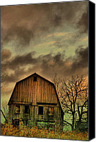 Country Scenes Photo Canvas Prints - Dusk Abandoned  Canvas Print by Emily Stauring