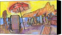 Dois Irmaos Canvas Prints - Dusk at Ipanema 2 Canvas Print by Douglas Simonson