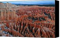 Thor Canvas Prints - Dusk in Bryce Canyon Amphitheater Canvas Print by Pierre Leclerc