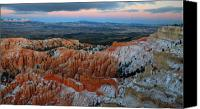 Thor Canvas Prints - Dusk in Bryce Canyon Canvas Print by Pierre Leclerc