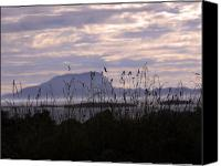 Mayo Photographs Photographs Framed Prints Canvas Prints - Dusk over Clare Island Canvas Print by Paul  Mealey